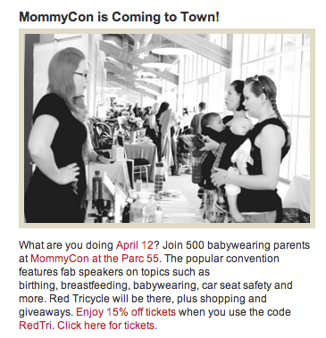 Nesting Days will be at MommyCon - April 12th